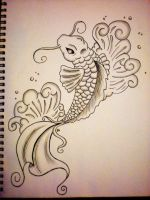First Koi Fish drawing by RachieKnow