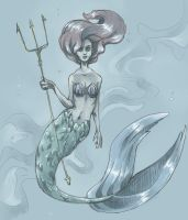 Ariel the little mermaid - sketch by Ameza