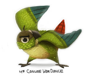Daily Painting 724# Conure War Dance by Cryptid-Creations