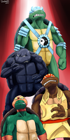 Teenage Mutant Wrestling Turtles by Ishida1694