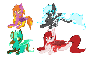 Winged Ponies [2/4 OPEN] by SparksOfDiscord
