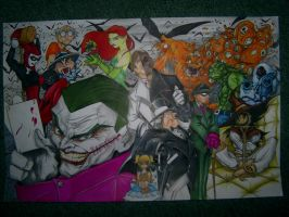 Batman Villains by Partin-Arts