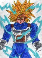 SSJ2 Trunks in Armor by ChahlesXavier