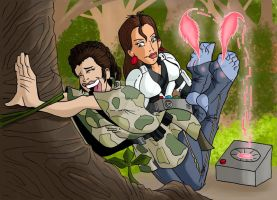 Leia captive in the forest by JinksLizard