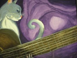 jazz playing cat by diabeticartist