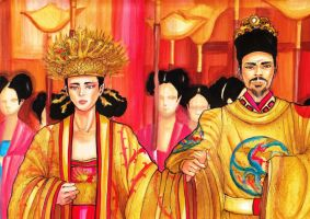 Emperor Wan Li and Lady Zheng by Mary-cosplay