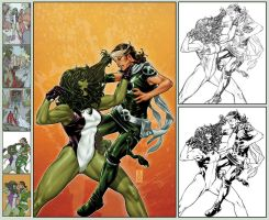 X-Men Legacy 266 cover step by step by diablo2003
