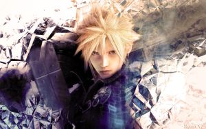 Cloud Strife Wallpaper by RossyX2