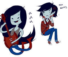 Marceline and Marshall Lee by Omnomnom-Monster