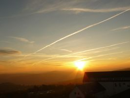 sunset in Altenberg.Germany by paolica