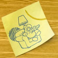 Post-it doodle by thejagman22