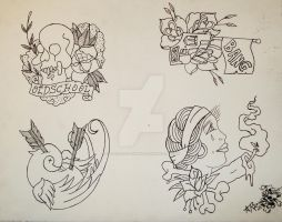 oldschool flash sheet lines by oldschool-sinner
