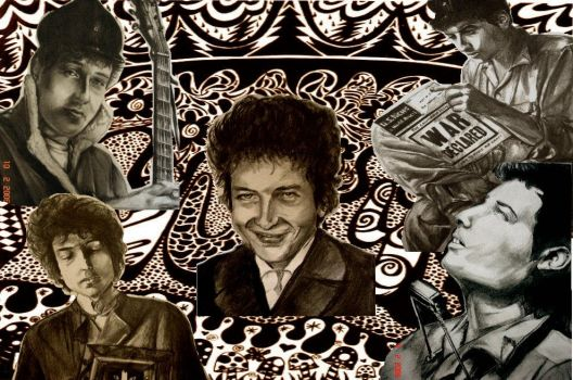 Dylan Collage by Retro-60s