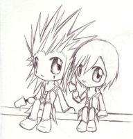 Axel and Xion Chibis by TreeSoul