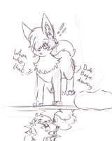 Water Dog Irony doodle by ZAFTs-Prince