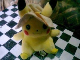 pikachu cap plush by xmorris33