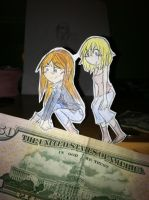 Street Liz and Patty Paperchildren by Miss-Issippi