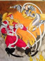 Wolverine vs Omega Red by Lionzstorm