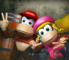Donkey Kong COUNTRY by DemonLeon3D