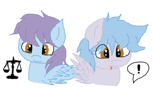 New Twin ocs: Clevester and Clester by cottoncloudyfilly
