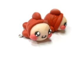Kawaii pisces charm - zodiac sign - polymer clay by TenereDelizie