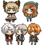 [Commission] Mini Chibi Batch 6 by Asuhinee-Adopt