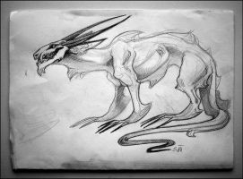 Concept Sketch: Original Dragon Character by TheUrbanFox