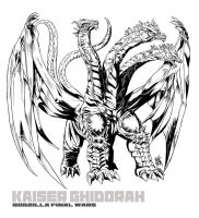 KAISER GHIDORAH LINE ART by neurowing