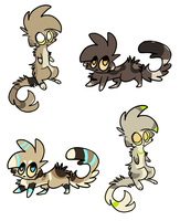 Ferret customs for Punkiceadopts by alfvie