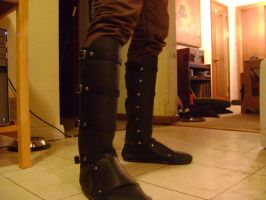 leather boots by daddy-longlegs