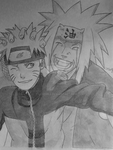 Naruto and Jiraiya by Loverke