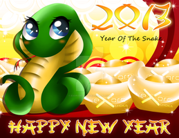 Exoro Choice's 2013 Chinese New Year Cards 03 by ExoroDesigns
