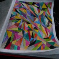 Abstract Vision // colored - Drawing by Defreve
