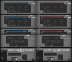 Numix Dark Blue and Red For Win10 Anniversary Up3 by Cleodesktop