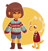 christmas sweaters!! by leaffkun