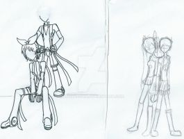 Vocaloid WIPs: Len and Rin Append + MikuxMystic by Mystic2760