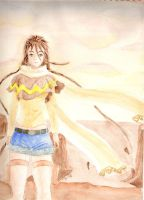 In the sunset_Watercolor by CleopatraDiNekomata