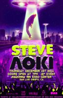 Steve Aoki Flyer by DeWeirdo