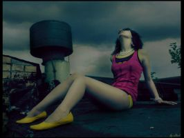 big yellow shoes by elliset