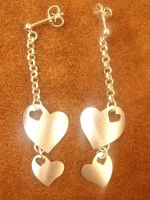 Hanging heart earrings by LARvonCL