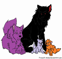 wolf family adoptables 1-2 points SOLD by PrincessaDramaQueen
