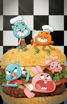Amazing World of Gumball #1 variant by zacharyxbinks