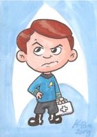 Dr. Leonard McCoy Art Card by kevinbolk