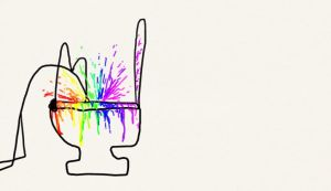 puking rainbows doodle by Broezzz