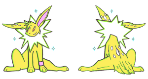 Carleevee -- Jolteon Form by LadyFoxling