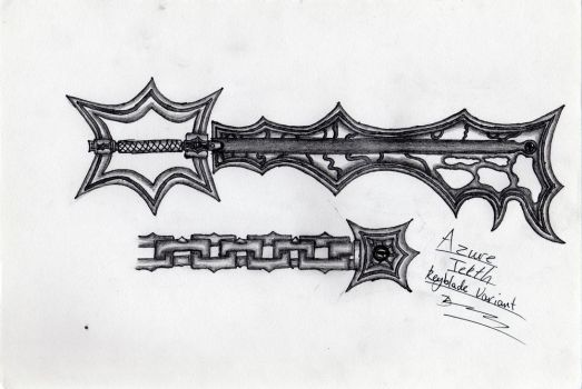 Azure Teeth Keyblade Variant by DarkoLeodias