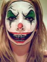Evil Clown Makeup by KissMeLoveMeUseMe