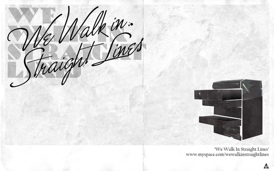 We Walk In Straight Lines Wall by pepperberetta