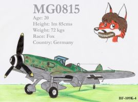 MG0815 and his BF-109K by DingoPatagonico