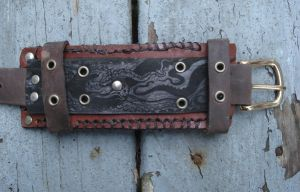 Leather cuff by missmonster